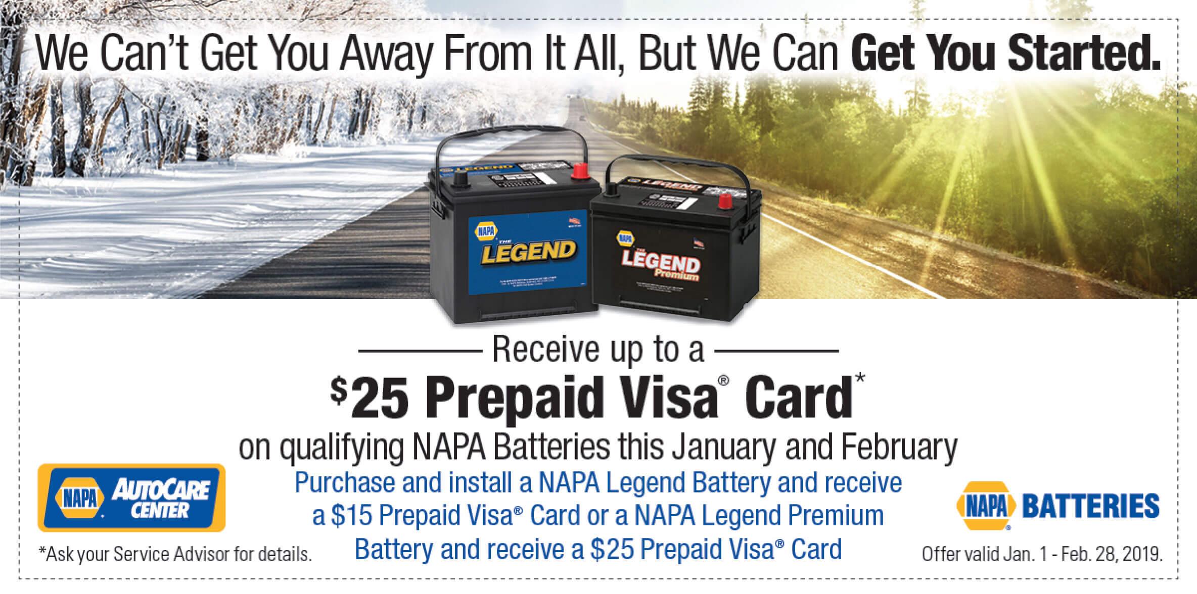 napa batteries special